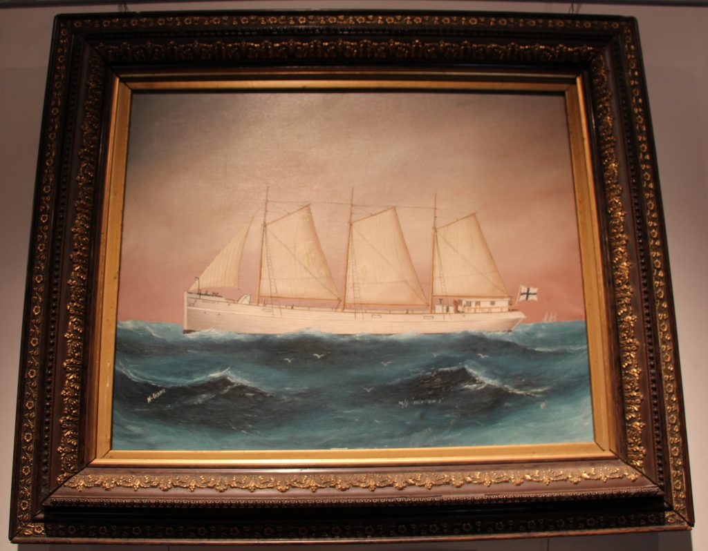 Hotelli Krepelin - Painting of the ship Neptun in the Maritime Museum